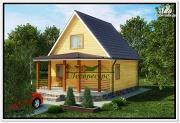 Фото: дачный домик 6 × 6 из бруса