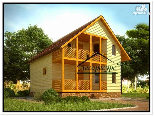 Фото: проект дом 8 × 8 из бруса
