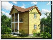 Проект гостевой дом из бруса