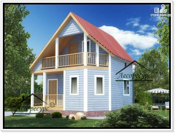 Фото: проект дом 6 7 из бруса