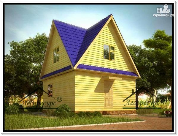Фото: проект дом 6 × 6 из бруса