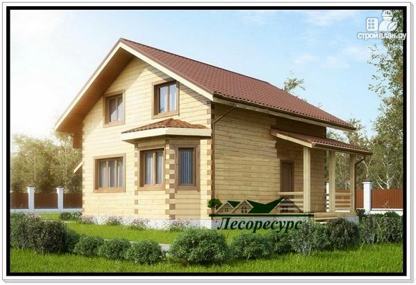 Фото 2: проект дом с двумя эркерами и мансардой