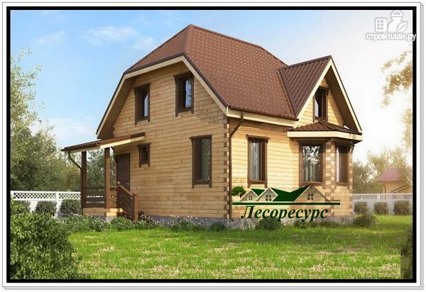 Фото 2: проект дом с эркером 7х8