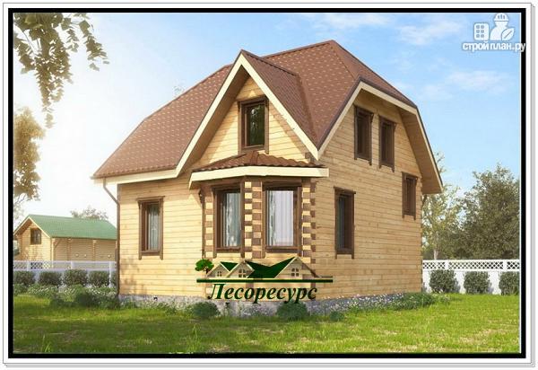 Фото: проект дом с эркером 7х8