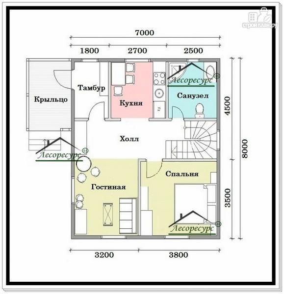 Фото 5: проект дом для маленького участка