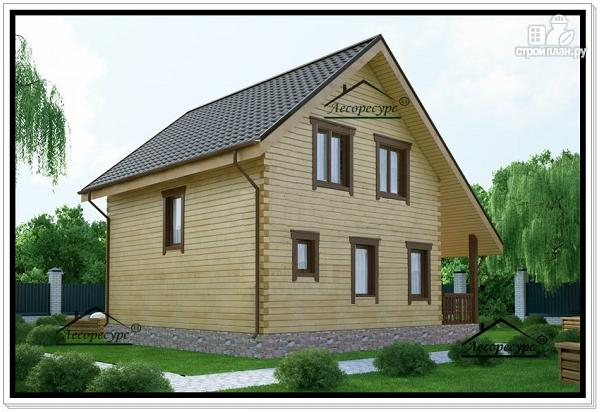 Фото 3: проект дом для маленького участка