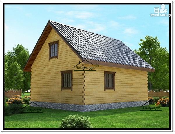 Фото 4: проект дом 7 на 8,5 из бруса
