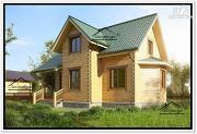 Проект дом 8 на 10 из бруса