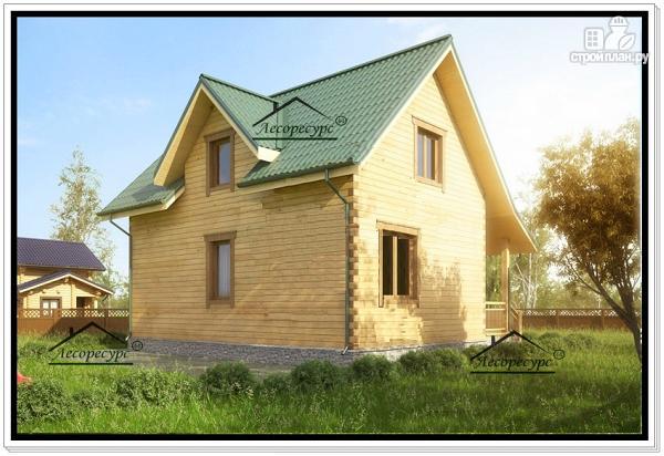 Фото 4: проект дом 8 на 10 из бруса