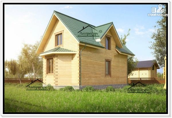 Фото 3: проект дом 8 на 10 из бруса