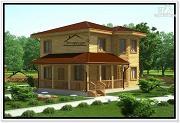 Проект двухэтажный дом 10 на 10 из бруса