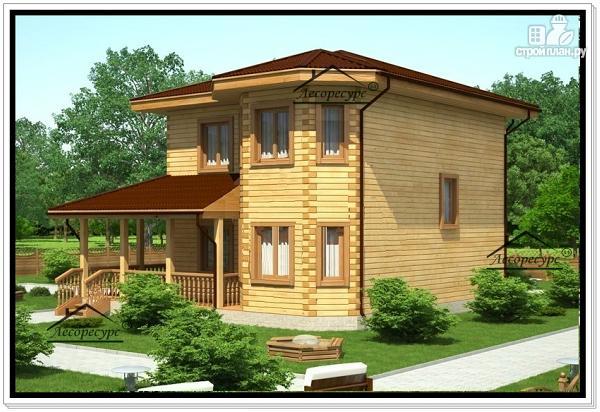Фото 2: проект двухэтажный дом 10 на 10 из бруса