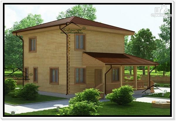 Фото 3: проект двухэтажный дом 10 на 10 из бруса
