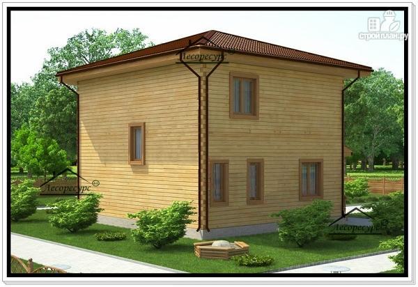 Фото 4: проект двухэтажный дом 10 на 10 из бруса