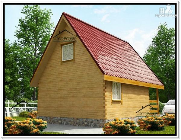 Фото 3: проект дом из бруса 6 на 8