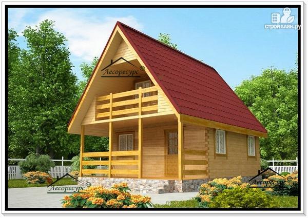 Фото: проект дом из бруса 6 на 8