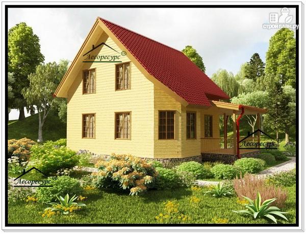 Фото 3: проект дом из бруса с эркером