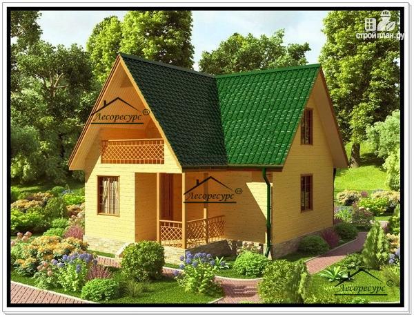 Фото: проект дачный дом 6 на 9 с мансардой