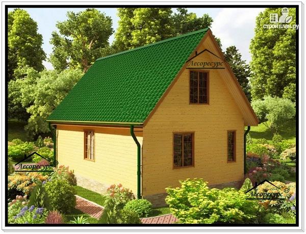 Фото 4: проект дачный дом 6 на 9 с мансардой