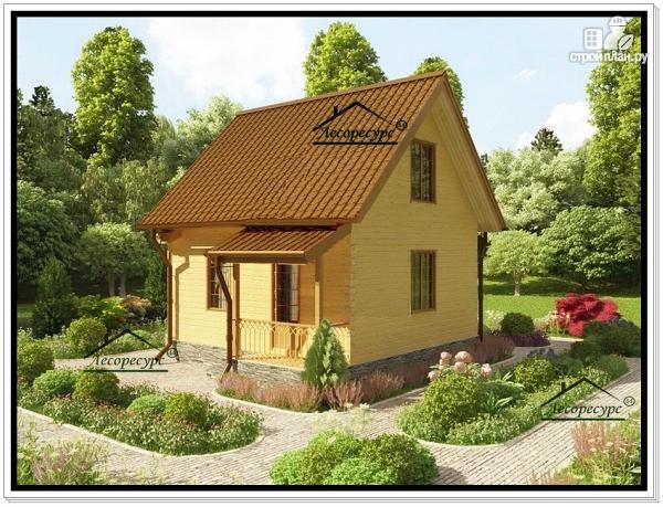 Фото 4: проект дачный дом из бруса