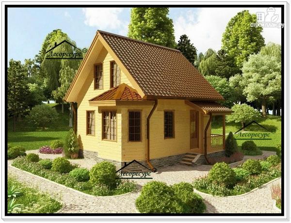 Фото: проект дачный дом из бруса
