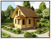 Проект дачный дом из бруса