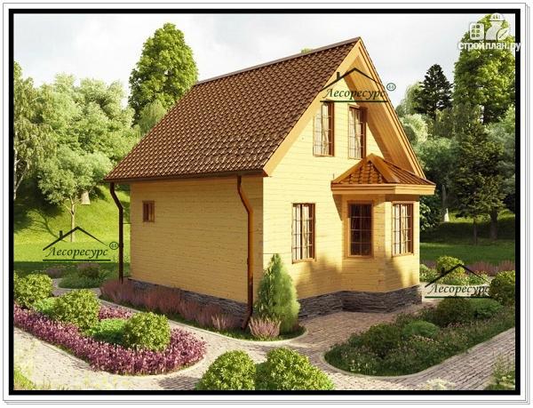 Фото 2: проект дачный дом из бруса