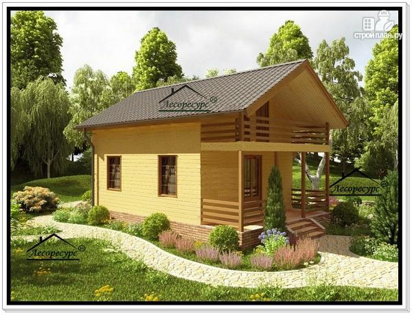 Фото 2: проект дом из бруса эконом класса