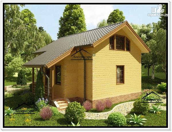 Фото 4: проект дом из бруса эконом класса