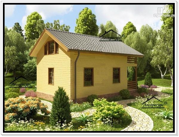 Фото 3: проект дом из бруса эконом класса
