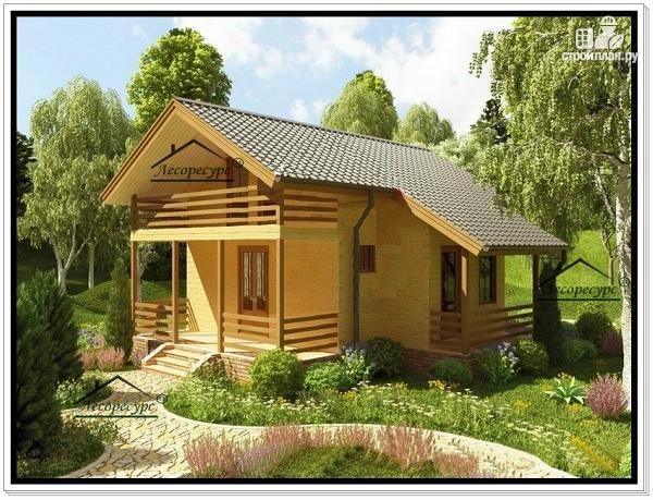 Фото: проект дом из бруса эконом класса