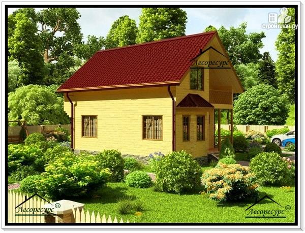 Фото 4: проект дом из бруса 8 на 9