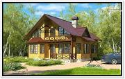 Проект дом 8,5 на 8,5 из бруса