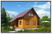 Проект дачный дом 6 на 8