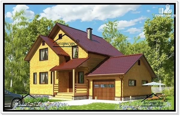 Фото: проект дом с гаражом и мансардой