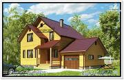 Фото: дом с гаражом и мансардой