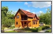 Фото: дом 9 на 10 из бруса с мансардой