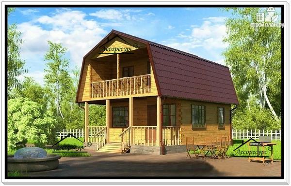 Фото: проект дом эконом класса из бруса с мансардой