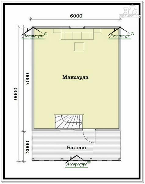 Фото 3: проект дом эконом класса из бруса с мансардой