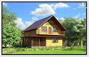 Фото: дом с мансардой из бруса