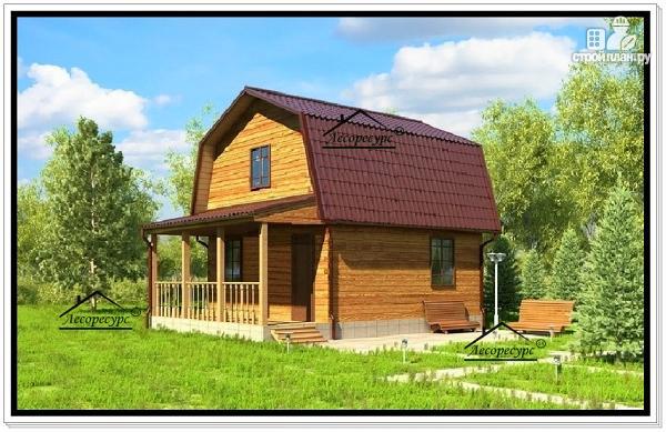 Фото: проект небольшой дом 6 на 8 из бруса