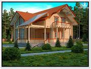 Фото: дом из бруса со вторым светом