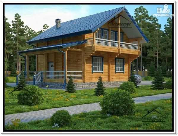 Фото: проект дачный дом из бруса с мансардой