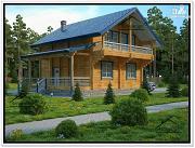 Фото: дачный дом из бруса с мансардой
