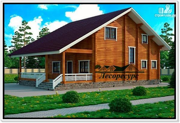 Фото: проект дом с открытой террасой