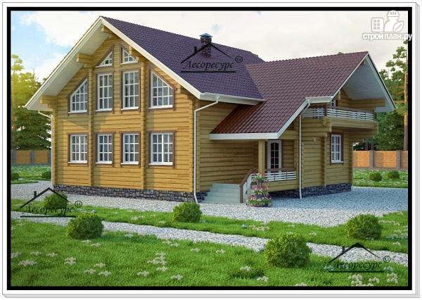 Фото: проект стильный дом из бруса