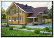 Фото: стильный дом из бруса