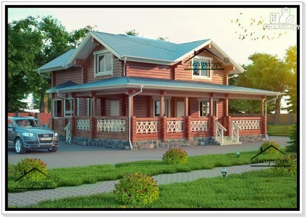 Фото: проект современный дом из бруса