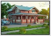Фото: современный дом из бруса