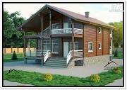 Проект дом из бруса 10 на 11